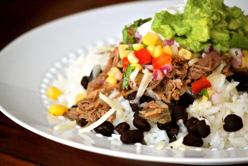 Chipotle Shredded Beef with Corn Salsa