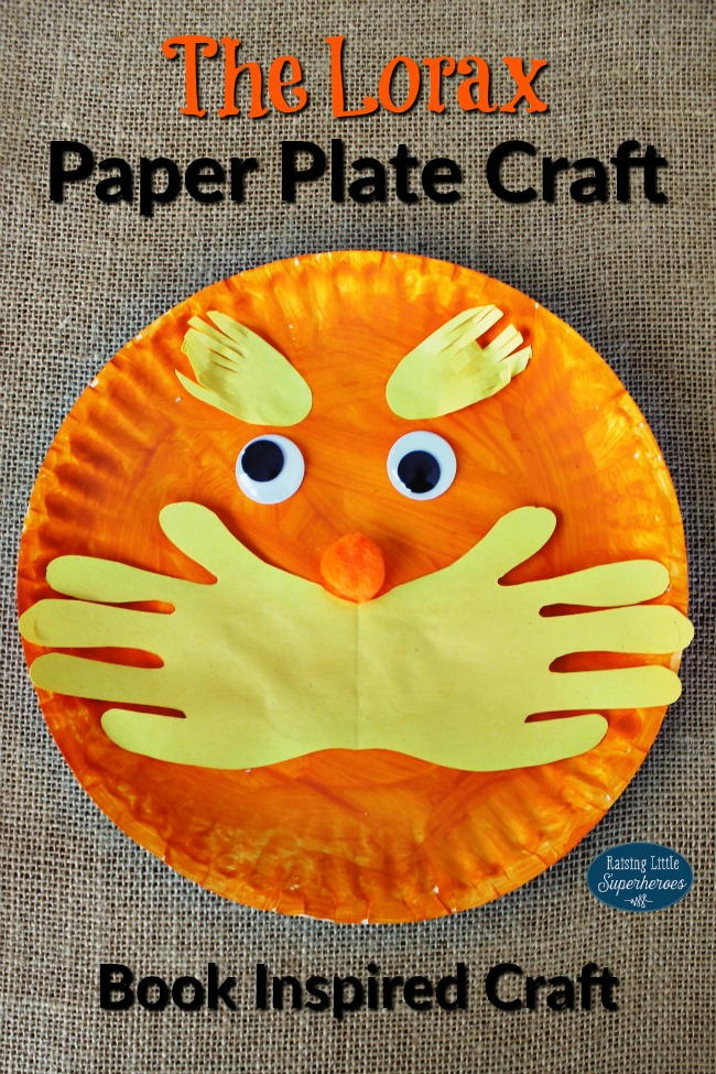 The Lorax Paper Plate Craft AllFreeKidsCrafts