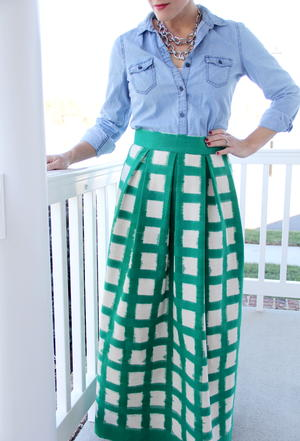 Pretty Woman DIY Maxi Skirt