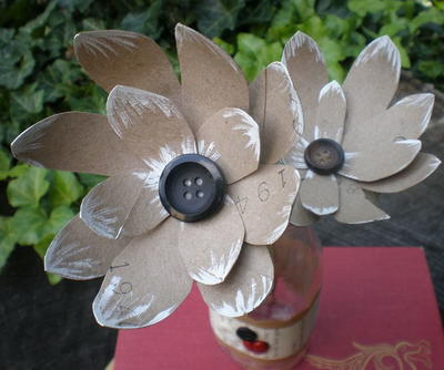 Recycled DIY Paper Flowers