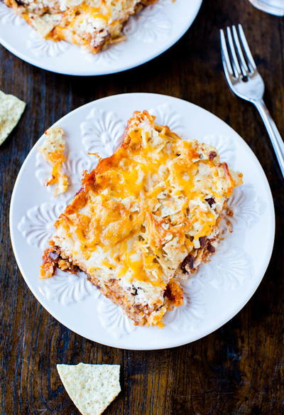 Cheesy Chips and Chili Casserole