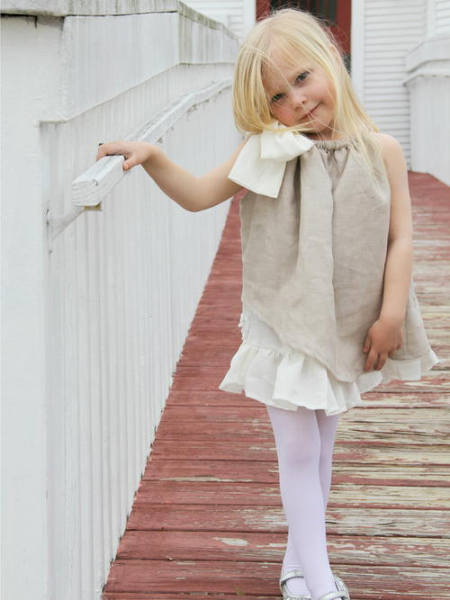 Fresh Linen Girls Dress
