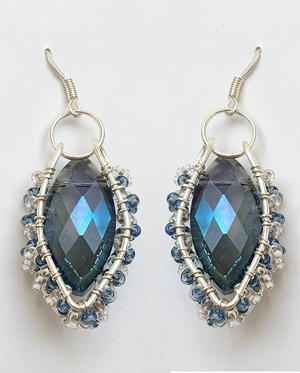 Klieg Lights Crystal Earrings