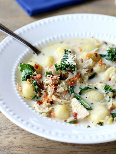 Chicken Soup with Gnocchi and Kale