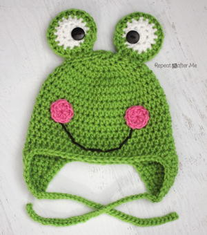 Frog Crochet Hat Pattern