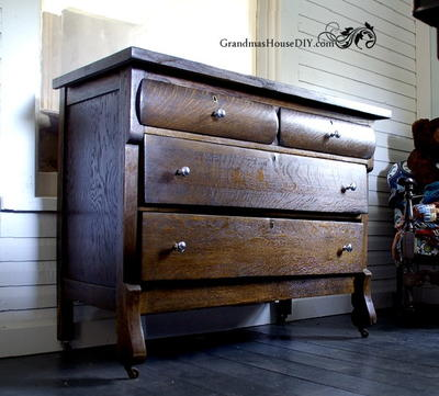 Upcycled Antique Wooden Dresser