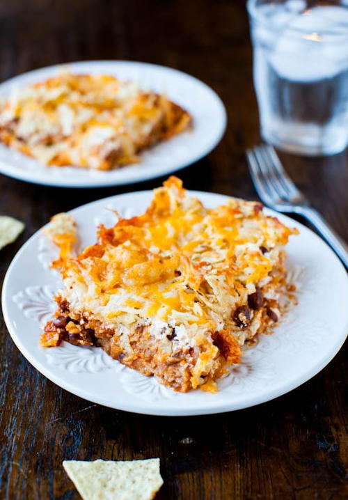 Chips Cheese and Chili Casserole