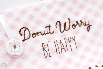 Happy Doughnut Embroidery Design
