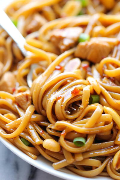 California Pizza Kitchen Kung Pao Spaghetti Copycat