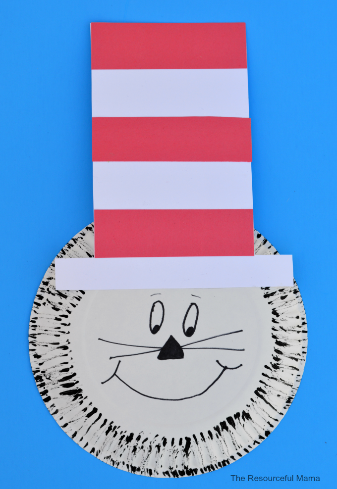 Paper Plate Dr Seuss Cat in the