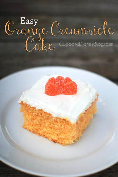 4-Ingredient Orange Creamsicle Cake