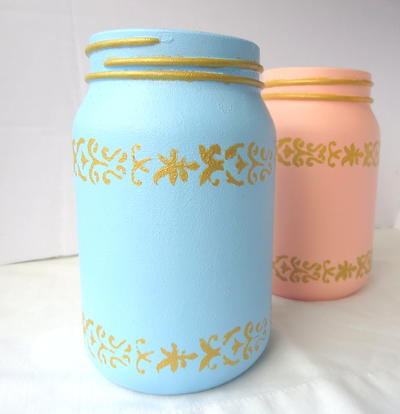 Re-Purposed Jars for Mother's Day