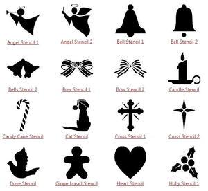 50+ free printable christmas stencils   silhouette cameo   pochoir.