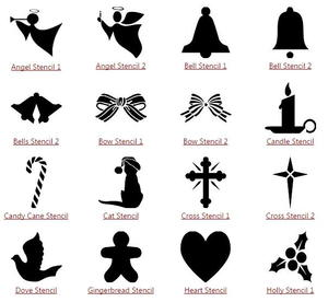 photograph about Christmas Cutouts Printable identified as Printable Xmas Stencils