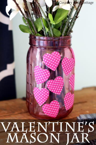Cute Valentine's Day Mason Jar
