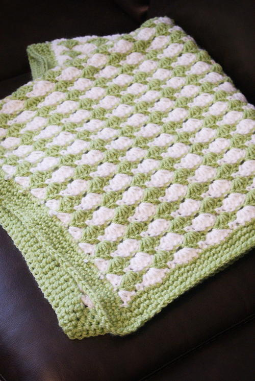 Shell Stitch Crochet Blanket