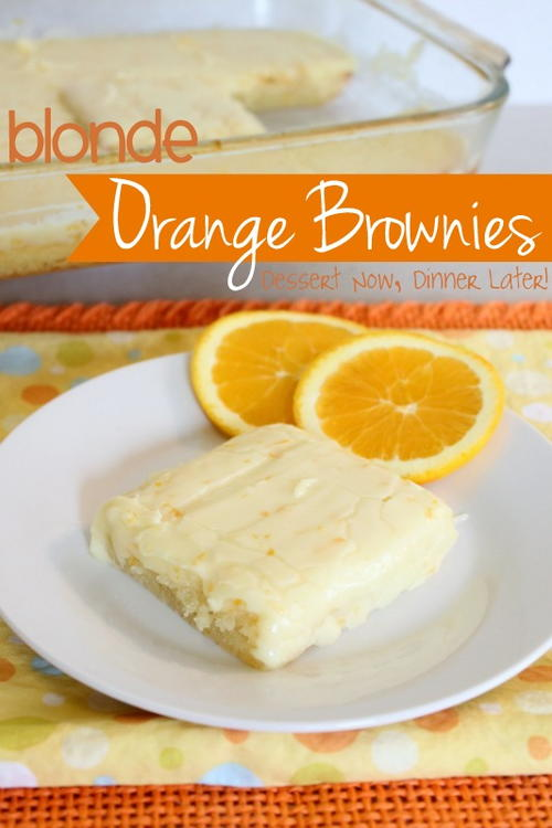 Blonde Orange Blondies