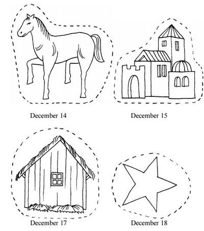 Printable Nativity Advent Chain