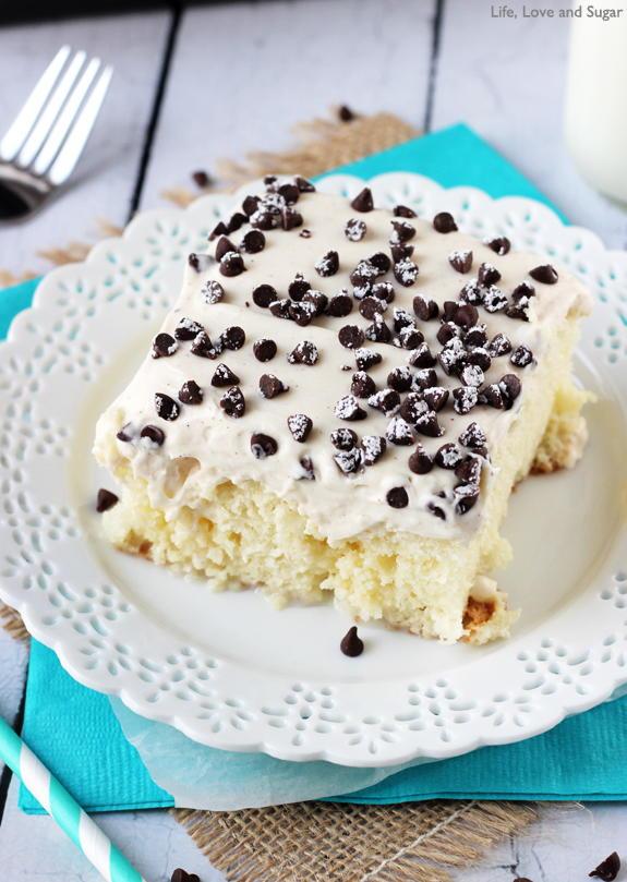 Cannoli Poke Cake Recipelion Com