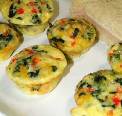 Mini Crustless Quiches
