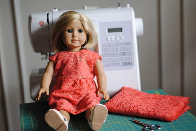 Lacy Dress DIY Doll Clothes