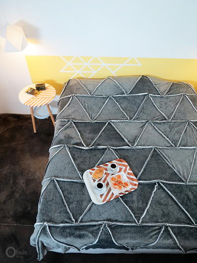 Cottage Gray DIY Blanket