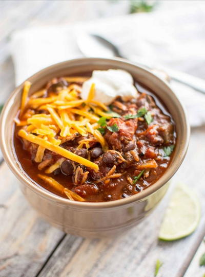 Slow Cooker Chicken Chili with Ancho Pepper