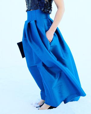 Cool Blue DIY Maxi Skirt