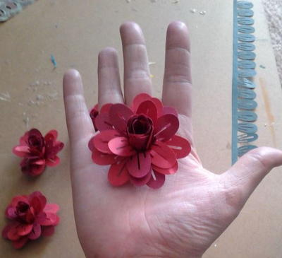 Little Paper Flower Embellishments