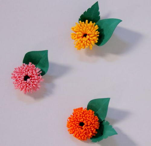 how to make little paper flowers