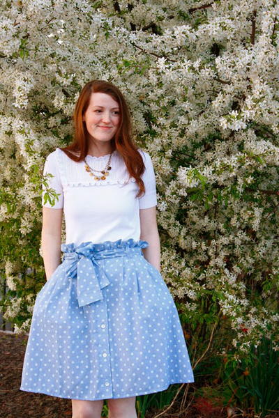 Flattering Upcycled DIY Skirt