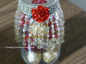 Beaded Mason Jar Crafts