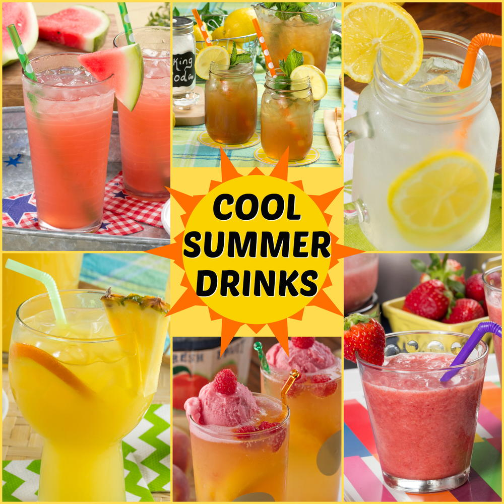 summer cool drink recipes drinks beverages cold easy