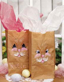 Easter Bunny Sacks with Tissue Paper Ears