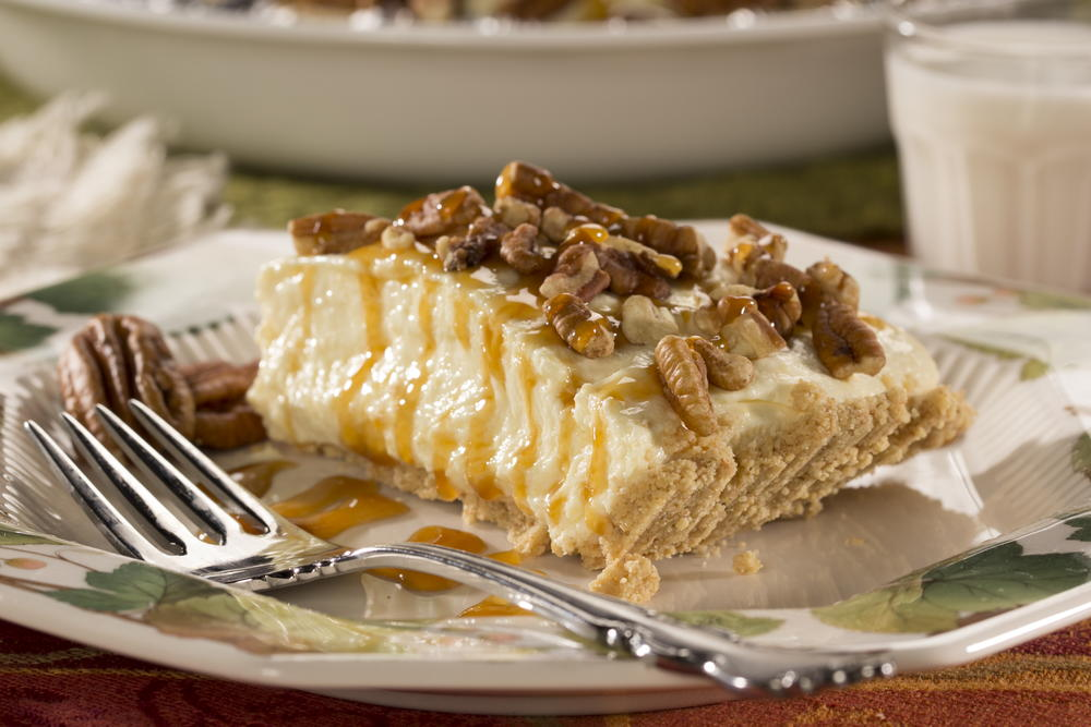 Caramel Pecan Cheesecake Pie | EverydayDiabeticRecipes.com