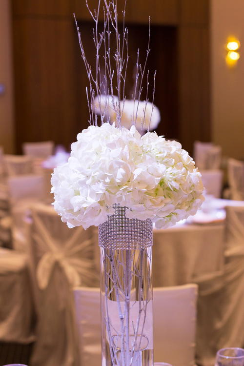 Rhinestone trim diy centerpieces allfreediyweddings