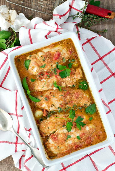No-Work Italian Baked Chicken