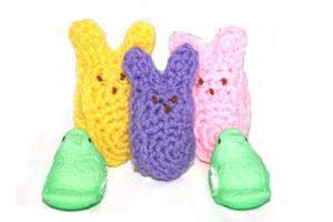 Small Crochet Bunny Peeps