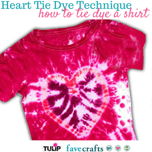 Heart Tie Dye Technique