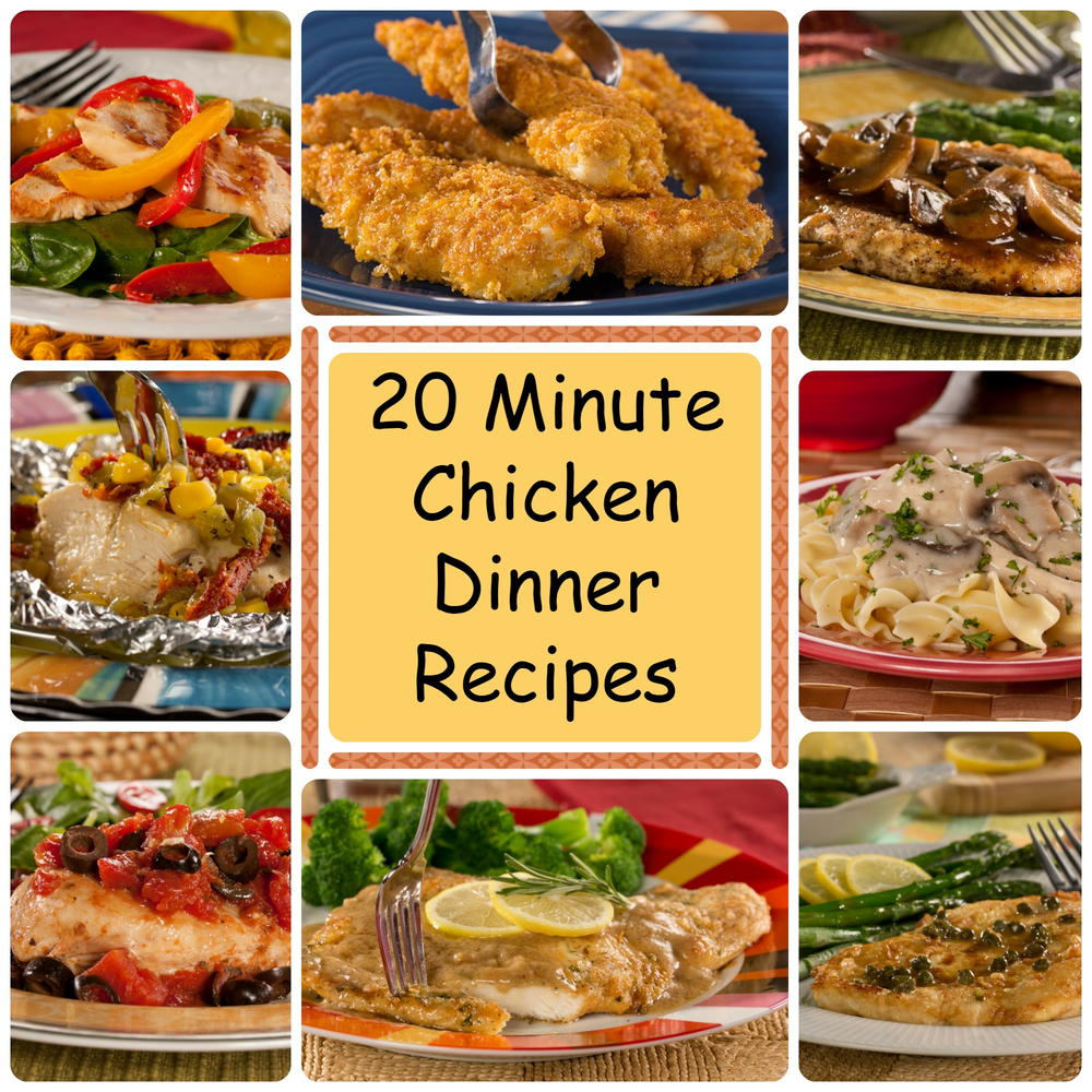 What To Do With Chicken Dinner: 20 Minute Chicken Dinner Recipes