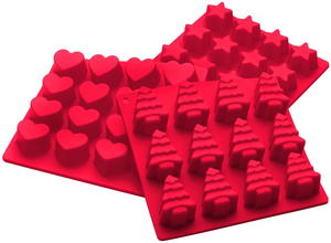 Starpack Holiday Silicone Candy Mold Set