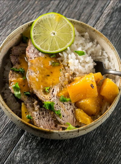 Slow Cooker Pork Roast with Tequila and Lime