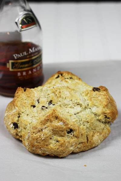 Irish Soda Bread with Brandy Soaked Raisins