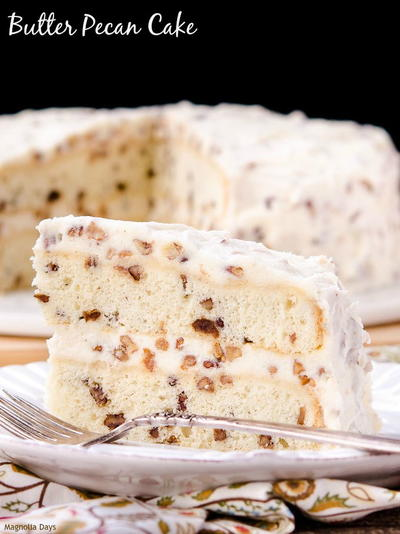 Old-Fashioned Butter Pecan Cake
