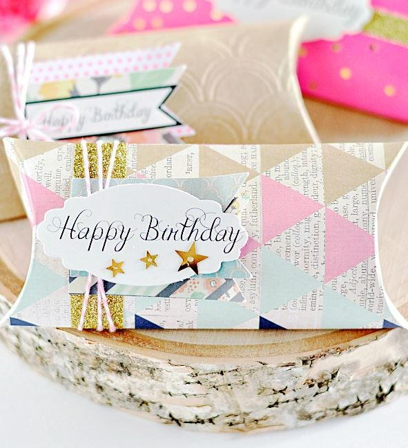 Birthday Tag Printables and DIY Pillow Box