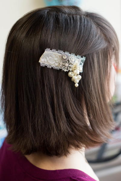 Vintage Inspired DIY Barrette