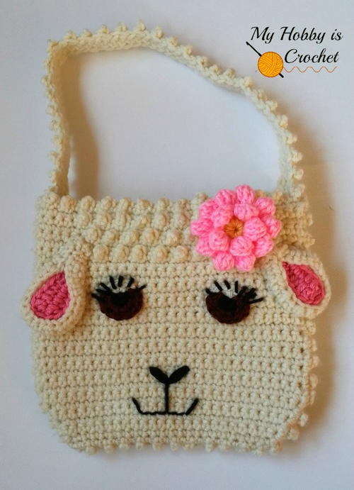 Darling Sheep Crochet Purse