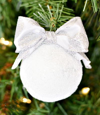 DIY Snowball Ornaments