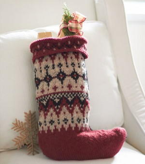 Fetching Fair Isle Pattern Stocking