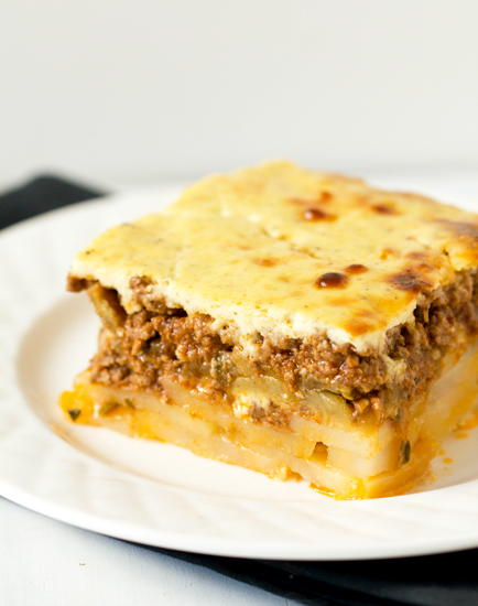 Moussaka with Eggplant and Ground Beef ...